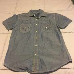 Arizona jean company button up shirt pearl snaps